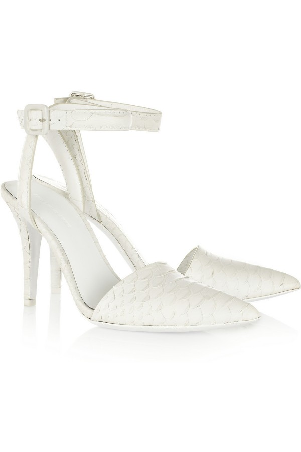 alex wang white heels