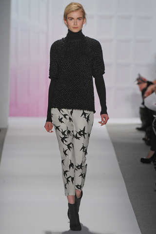 printed tibi pants fall 2012