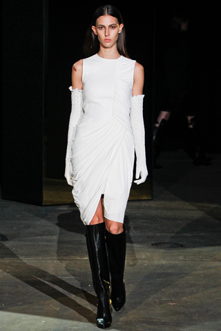 alexander wang fall 2012 white dress