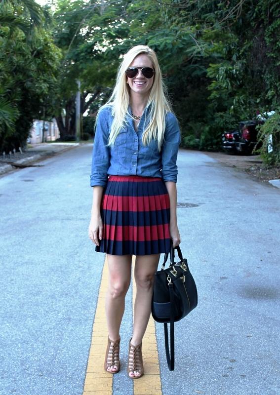 lacoste pleated mini skirt