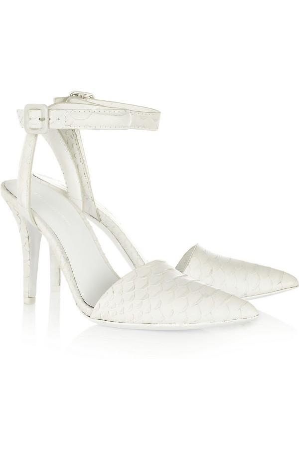 alex wang white heels